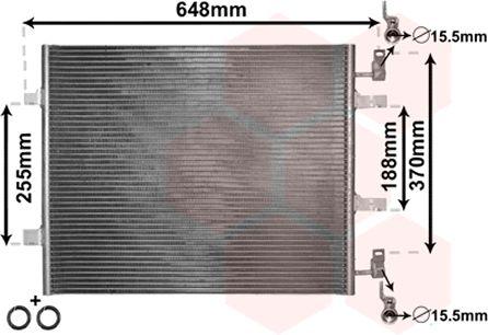 Condenseur, climatisation - VAN WEZEL - 43005459