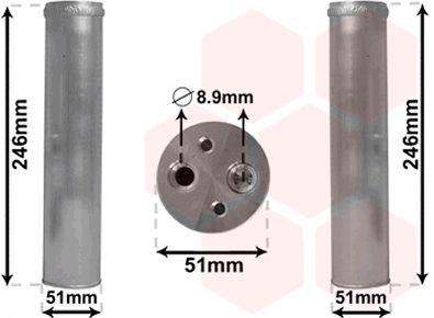 Filtre déshydratant, climatisation - VAN WEZEL - 4300D094