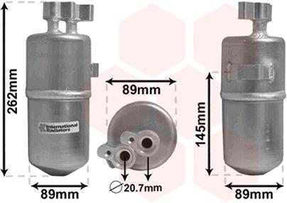 Filtre déshydratant, climatisation - VAN WEZEL - 4300D330