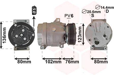 Compresseur, climatisation - VWA - 88VWA4300K069