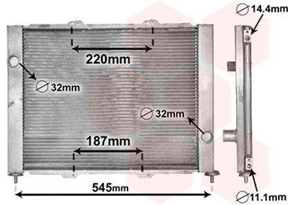 Radiateur, refroidissement du moteur - VAN WEZEL - 4300M388