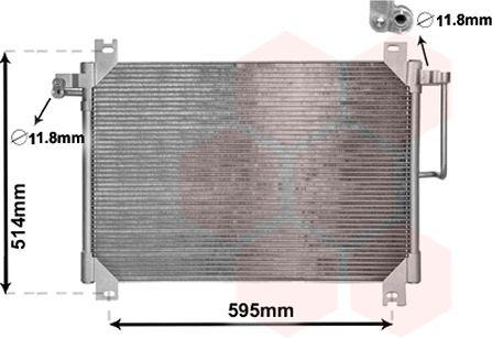 Condenseur, climatisation - VAN WEZEL - 47005074