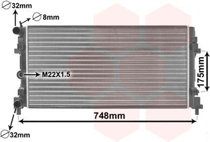 Radiateur, refroidissement du moteur - VAN WEZEL - 49002037