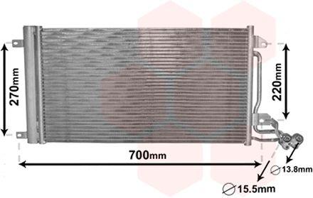 Condenseur, climatisation - VAN WEZEL - 49005038