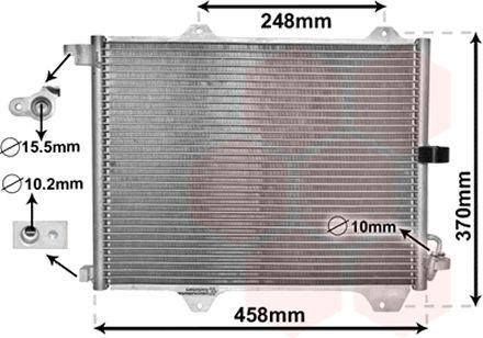 Condenseur, climatisation - VAN WEZEL - 52005088