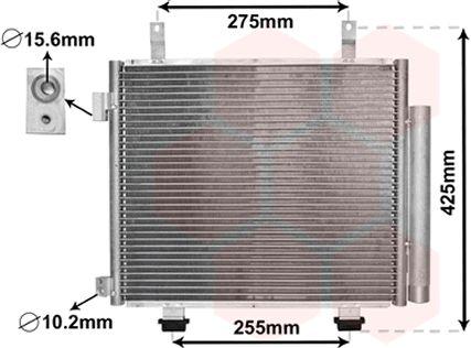 Condenseur, climatisation - VAN WEZEL - 52005115