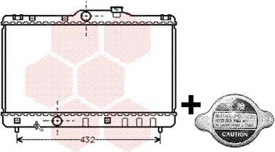 Radiateur, refroidissement du moteur - VAN WEZEL - 53002140