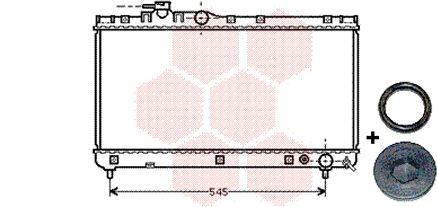 Radiateur, refroidissement du moteur - VWA - 88VWA53002200