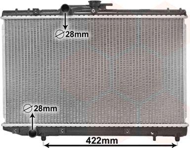 Radiateur, refroidissement du moteur - VAN WEZEL - 53002227