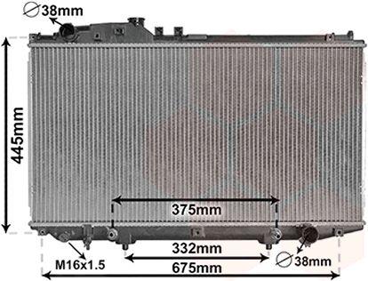 Radiateur, refroidissement du moteur - VWA - 88VWA53002337
