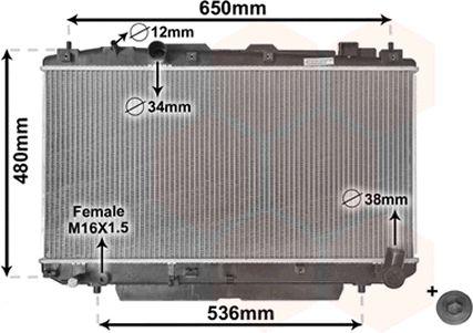 Radiateur, refroidissement du moteur - VAN WEZEL - 53002348