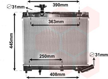 Radiateur, refroidissement du moteur - VWA - 88VWA53002663