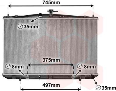 Radiateur, refroidissement du moteur - VAN WEZEL - 53002675
