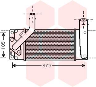 Intercooler, échangeur - VAN WEZEL - 53004475