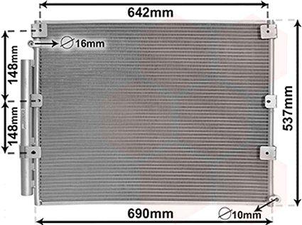 Condenseur, climatisation - VAN WEZEL - 53005380