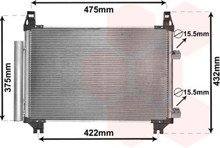 Condenseur, climatisation - VAN WEZEL - 53005404