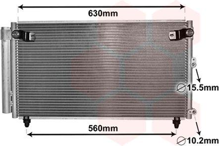 Condenseur, climatisation - VAN WEZEL - 53005558
