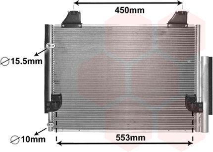 Condenseur, climatisation - VAN WEZEL - 53005563