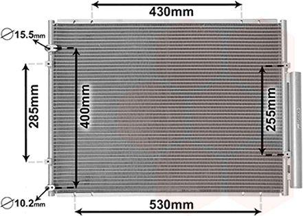 Condenseur, climatisation - VAN WEZEL - 53005574