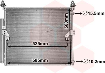 Condenseur, climatisation - VAN WEZEL - 53005652
