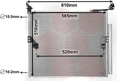 Condenseur, climatisation - VAN WEZEL - 53005677