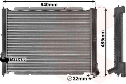 Radiateur, refroidissement du moteur - VAN WEZEL - 58002034