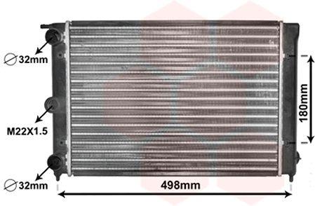 Radiateur, refroidissement du moteur - VAN WEZEL - 58002039