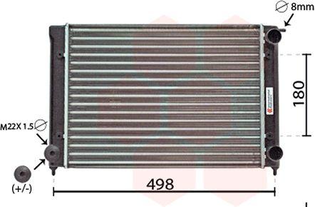 Radiateur, refroidissement du moteur - VAN WEZEL - 58002040