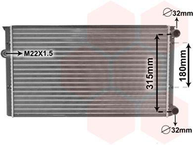 Radiateur, refroidissement du moteur - VAN WEZEL - 58002105