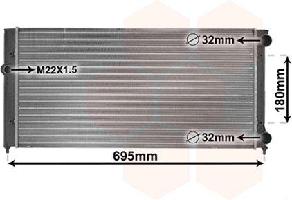 Radiateur, refroidissement du moteur - VAN WEZEL - 58002109