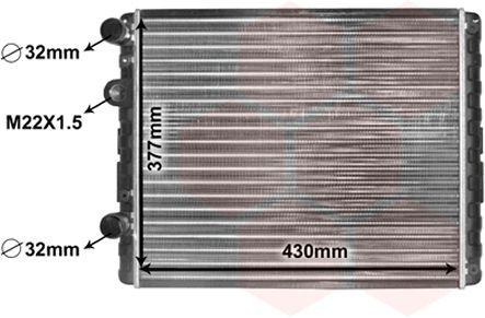 Radiateur, refroidissement du moteur - VAN WEZEL - 58002129