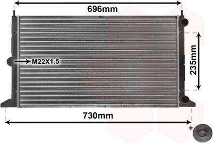 Radiateur, refroidissement du moteur - VAN WEZEL - 58002134