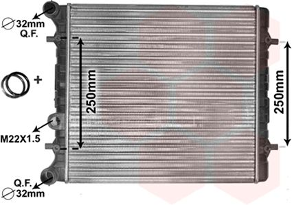 Radiateur, refroidissement du moteur - VAN WEZEL - 58002152