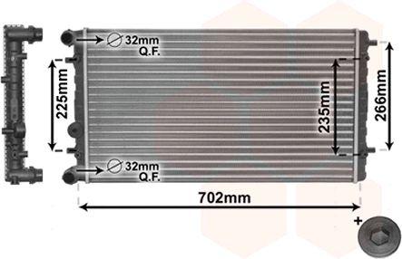 Radiateur, refroidissement du moteur - VAN WEZEL - 58002174