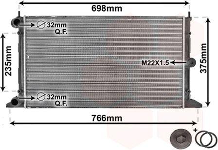 Radiateur, refroidissement du moteur - VAN WEZEL - 58002188