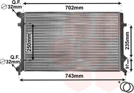 Radiateur, refroidissement du moteur - VAN WEZEL - 58002204