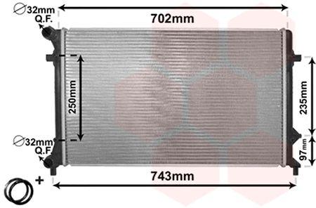Radiateur, refroidissement du moteur - VAN WEZEL - 58002205