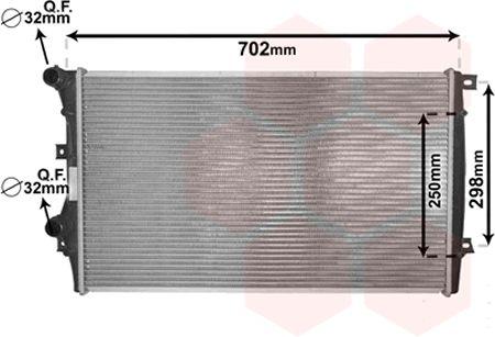 Radiateur, refroidissement du moteur - VAN WEZEL - 58002206
