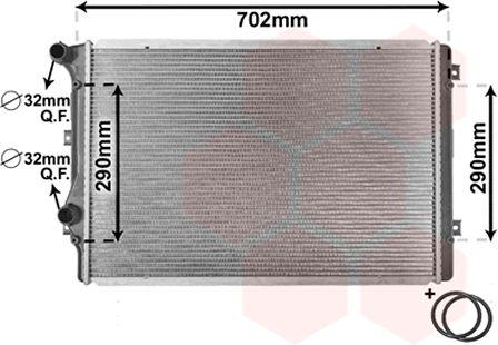 Radiateur, refroidissement du moteur - VAN WEZEL - 58002207