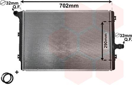 Radiateur, refroidissement du moteur - VAN WEZEL - 58002208