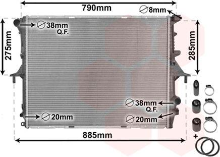Radiateur, refroidissement du moteur - VAN WEZEL - 58002214