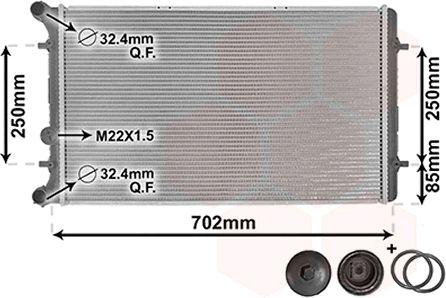Radiateur, refroidissement du moteur - VAN WEZEL - 58002217
