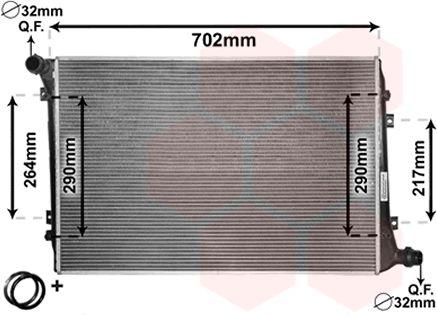 Radiateur, refroidissement du moteur - VAN WEZEL - 58002224