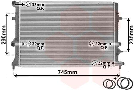 Radiateur, refroidissement du moteur - VAN WEZEL - 58002289