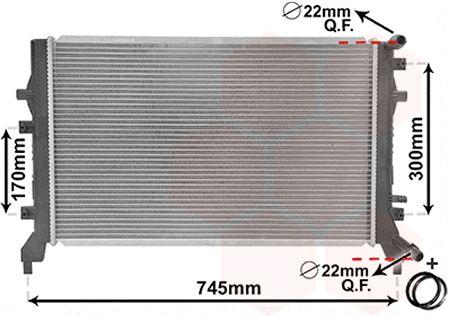 Radiateur, refroidissement du moteur - VAN WEZEL - 58002295