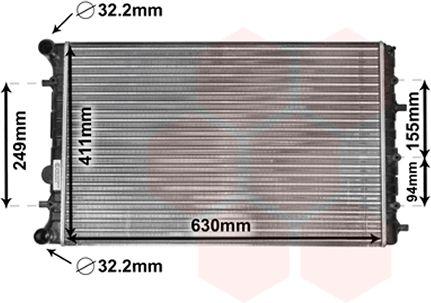 Radiateur, refroidissement du moteur - VWA - 88VWA58002347