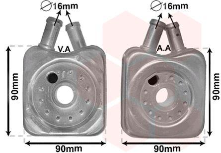 Radiateur d'huile - VAN WEZEL - 58003106