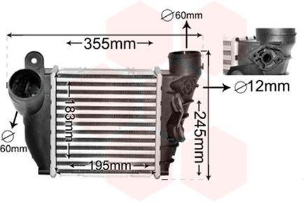 Intercooler, échangeur - VAN WEZEL - 58004200