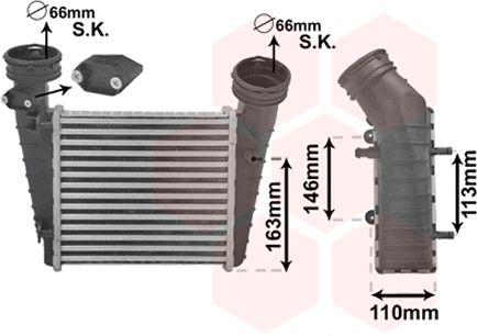 Intercooler, échangeur - VAN WEZEL - 58004238