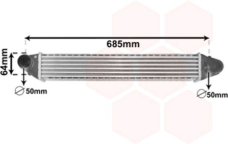 Intercooler, échangeur - VWA - 88VWA58004248